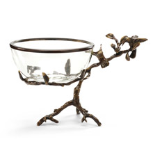 Wildwood 300517 Hummingbirds On Branch Bowl with Stand