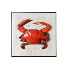 Wildwood 395149 Red Crab Oil Painting with Black Frame