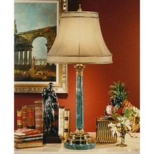 Wildwood 4109 Marble And Brass Table Lamp