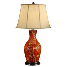 Wildwood 46472 Blossoms On Red Table Lamp