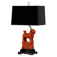 Wildwood 60496 Foo Foo Table Lamp (Left) - Red