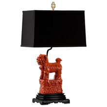 Wildwood 60497 Foo Foo Table Lamp (Right) - Red