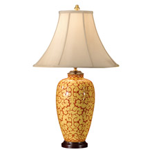 Wildwood 8974 Red on Yellow Table Lamp