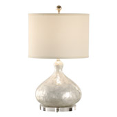 Wildwood 13132 capiz shell covered urn table lamp contemporary capiz shell bottle table lamp wildwood 13131 aloadofball Images