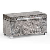 Grey Wood Footed Box (Med) - Wildwood 300694