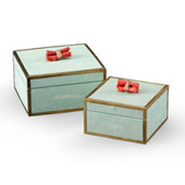 Coral Boxes (Set Of 2) - Green - Wildwood 300889