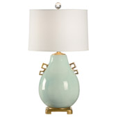 Transitional Ming Table Lamp - Robin Egg - Wildwood 60499