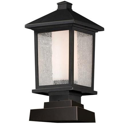 Z Lite 538phm Sqpm Orb Mesa Outdoor Pier Mount Light Fixture