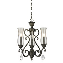 Z-Lite 720-3-GB Melina 3 Light Mini Chandelier