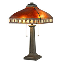 Craftsmanmission table lamps lamps beautiful z lite z14 53tl craftsman crimson 2 light table lamp aloadofball Image collections
