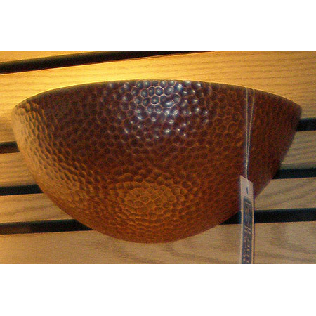 Hammered Copper Wall Sconces : Justice Design 1300 Small Quarter Sphere Wall Sconce with Hammered Copper Faux Finish