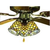 Tiffany Ceiling Fans and Fanlights